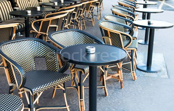ストックフォト: 伝統的な · パリジャン · コーヒー · 空っぽ · テラス · パーティ