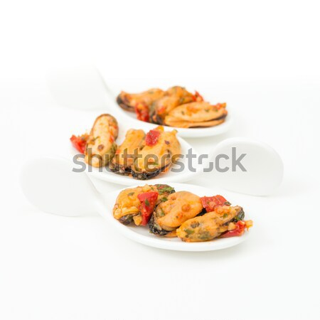 Mussel with white wine sauce Stock photo © ilolab