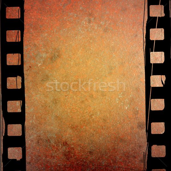 Groot filmstrip texturen achtergronden ruimte film Stockfoto © ilolab
