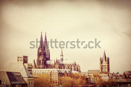 W stylu retro gothic katedry Niemcy budynku Zdjęcia stock © ilolab