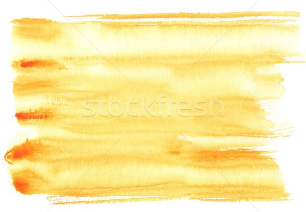 水彩画 黄色 ラフ テクスチャ 紙 ストックフォト © ilolab