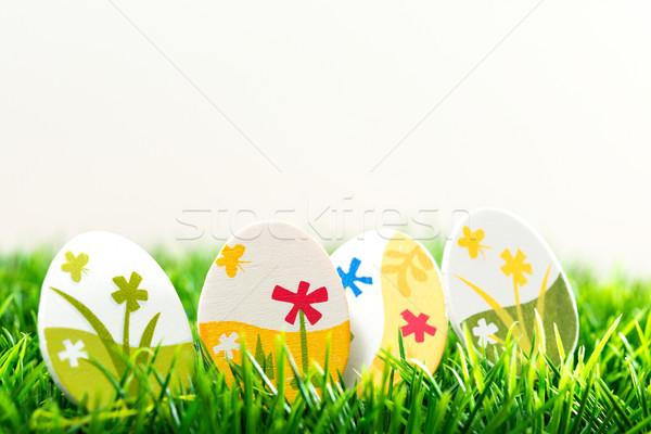 Colorful chocolate easter eggs  Stock photo © ilolab