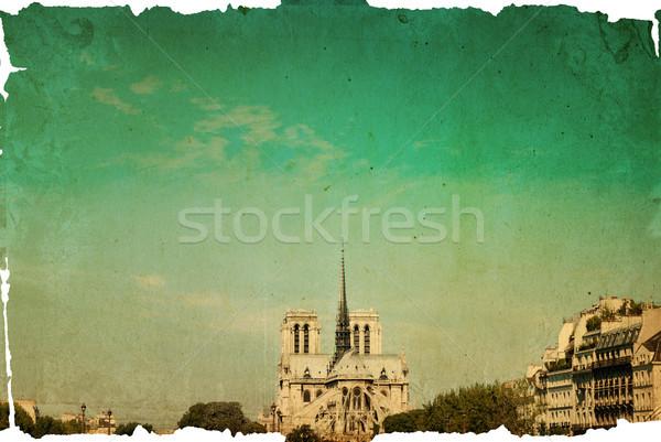 Catedral de Notre Dame Paris belo ver França francês Foto stock © ilolab