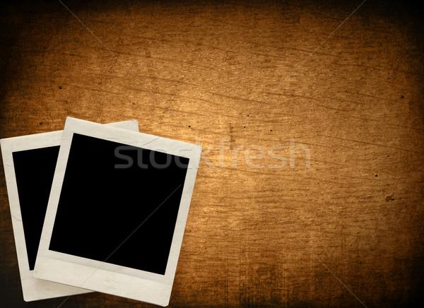ヴィンテージ インスタント 写真 フォトフレーム グランジ ストックフォト © ilolab