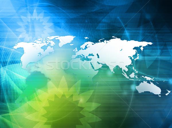 Mapie świata technologii stylu doskonały przestrzeni internetowych Zdjęcia stock © ilolab