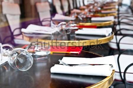 Photo stock: Café · terrasse · vue · sur · la · rue · vide · bâtiment · rue