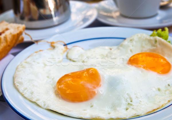 Сток-фото: подготовленный · яйцо · завтрак · изолированный · солнце · продовольствие