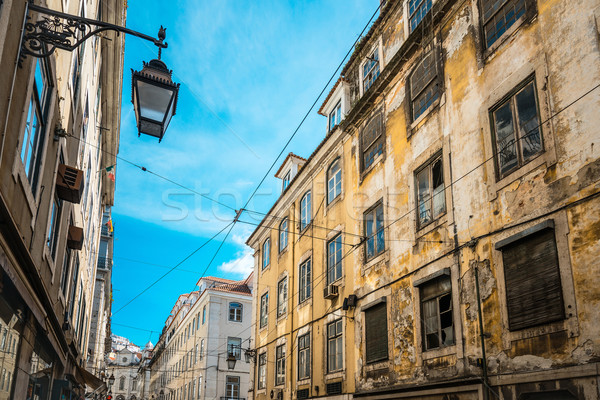 Beautiful street view of historic architectural in Lisbon, Portu Stock photo © ilolab