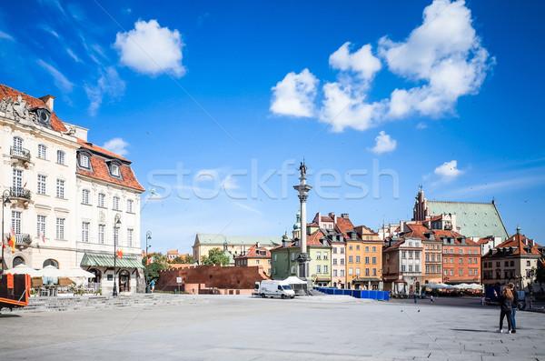 Vista de la calle central Varsovia ciudad calle viaje Foto stock © ilolab