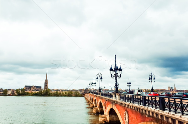 Old stony bridge in Bordeaux Stock photo © ilolab