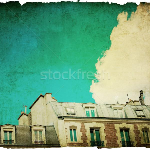 antique city building in paris Stock photo © ilolab