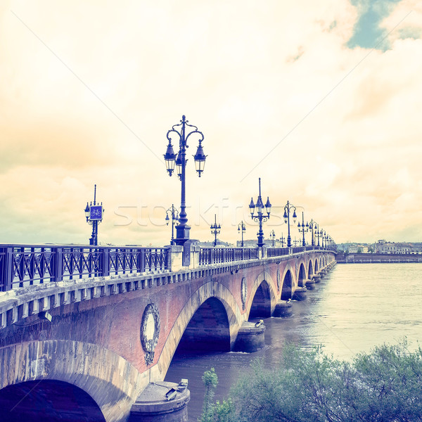 Old stony bridge in Bordeaux Stock photo © ilolab