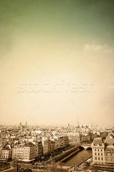 Ouderwets Parijs Frankrijk ruimte tekst afbeelding Stockfoto © ilolab