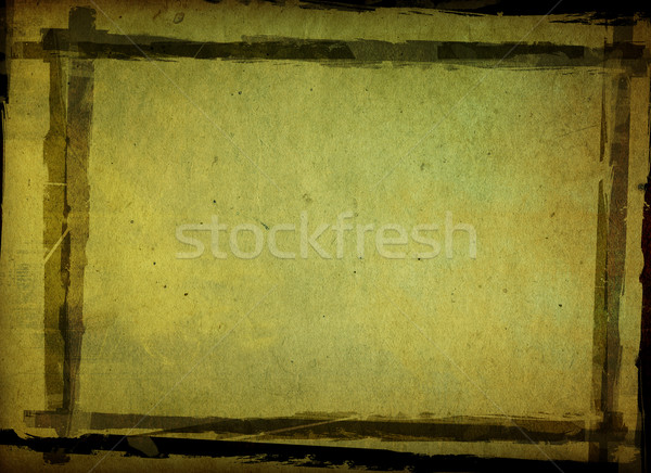 Grunge frame dettagliato spazio carta Foto d'archivio © ilolab