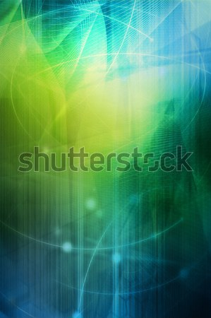 Abstract cool golven Galaxy perfect ruimte Stockfoto © ilolab