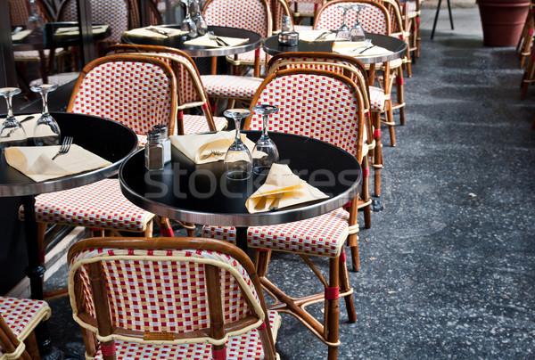 ストリートビュー カフェ テラス 空っぽ パーティ レストラン ストックフォト © ilolab