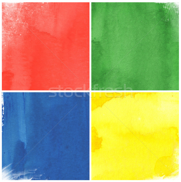 Kolorowy akwarela mnie papieru mój ramki Zdjęcia stock © ilolab
