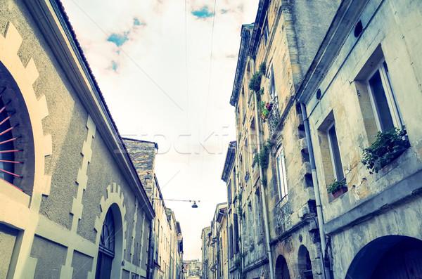 óváros Bordeau figyelmeztetés kilátás város Franciaország Stock fotó © ilolab