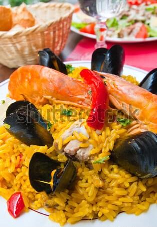 Stok fotoğraf: Pirinç · gıda · balık