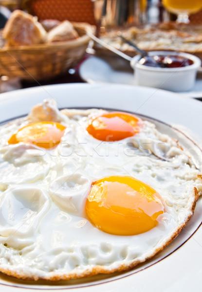 подготовленный яйцо изолированный солнце продовольствие пластина Сток-фото © ilolab