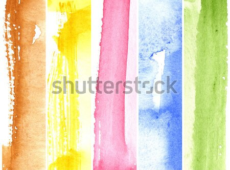 Stok fotoğraf: Muhteşem · suluboya · renkli · kaba · doku · kâğıt
