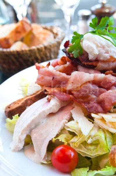 新鮮な チキンサラダ トマト 食品 チーズ 油 ストックフォト © ilolab