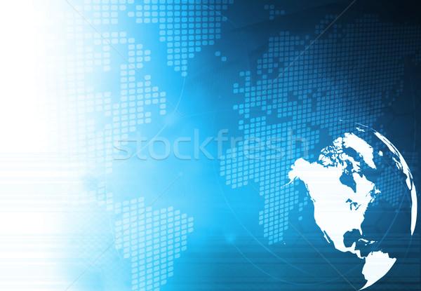 アメリカ 地図 抽象的な 技術 背景 ストックフォト © ilolab