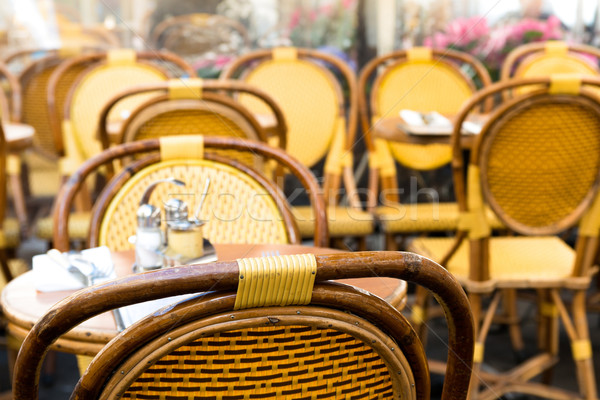 Vista de la calle café terraza restaurante mesa hotel Foto stock © ilolab