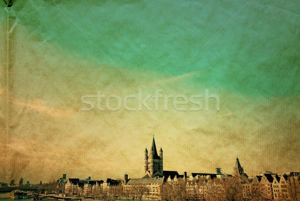 антикварная Европа город фон обои Сток-фото © ilolab