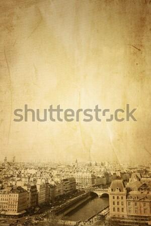 Antieke stad gebouw Parijs hemel huis Stockfoto © ilolab