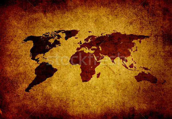 Stock photo: world map vintage