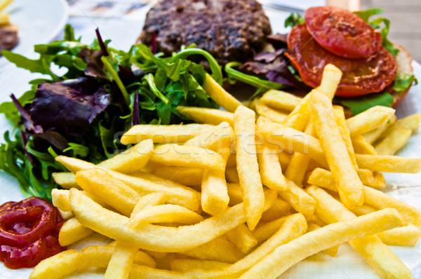 Jugoso filete ternera carne de vacuno carne tomate Foto stock © ilolab