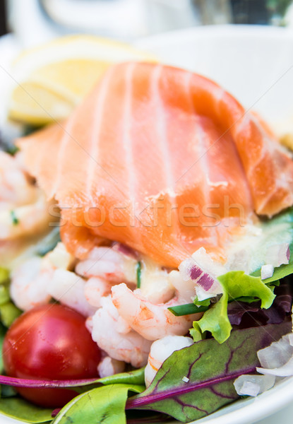 Fresh seafood salad Stock photo © ilolab