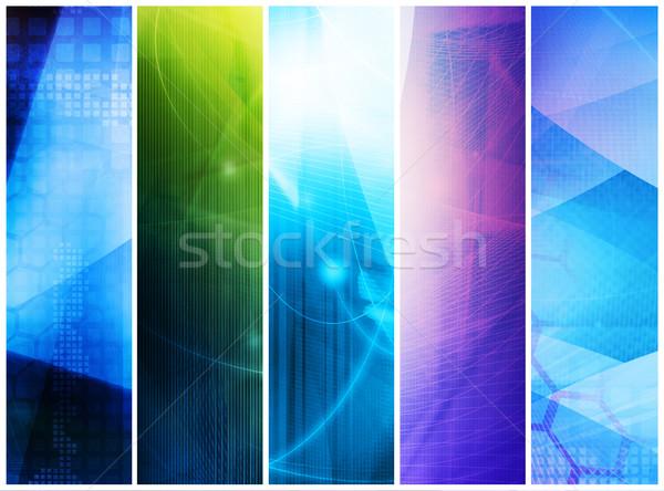 Abstrakten Galaxie perfekt Raum Technologie Hintergrund Stock foto © ilolab