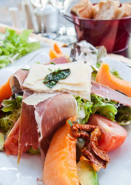 Stockfoto: Vers · vruchten · salade · heerlijk · tomaten · diner