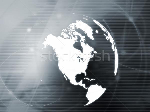 Америки карта аннотация технологий фон Сток-фото © ilolab