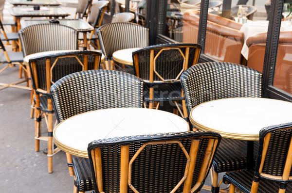 ストックフォト: 伝統的な · パリジャン · コーヒー · ストリートビュー · テラス · パーティ