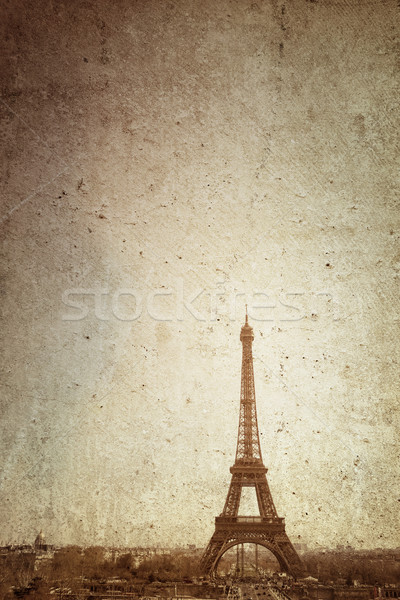 Retro Eiffel Tower Stock photo © ilolab