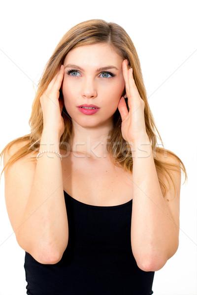 мигрень красивой голову белый Сток-фото © ilolab