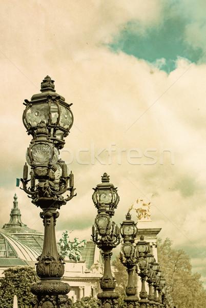 Retro Pont Alexandre III Stock photo © ilolab