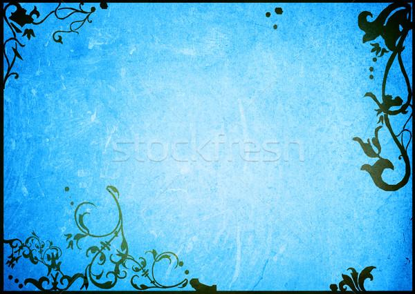 Horizons cadre floral style textures espace Photo stock © ilolab