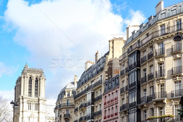 Antik város épület Európa égbolt ház Stock fotó © ilolab