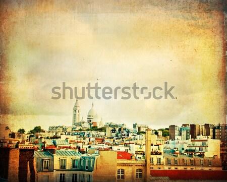 ストックフォト: 美しい · パリジャン · 通り · スペース · 文字 · 画像