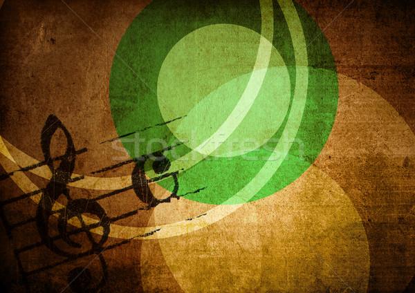 Сток-фото: Гранж · мелодия · аннотация · текстуры · фоны · пространстве