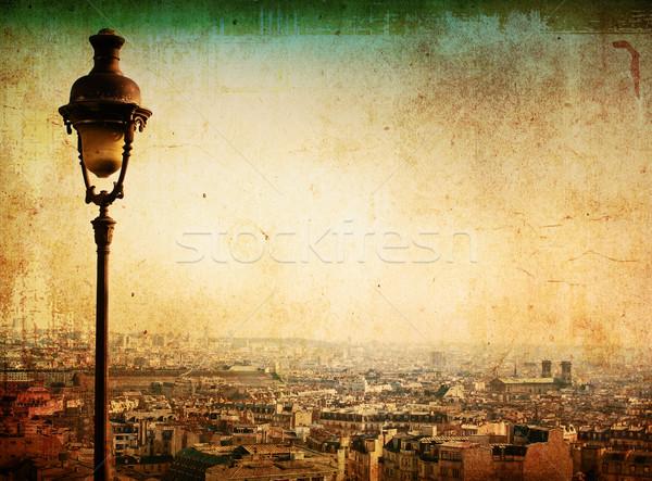 Párizs Montmartre Franciaország űr szöveg kép Stock fotó © ilolab