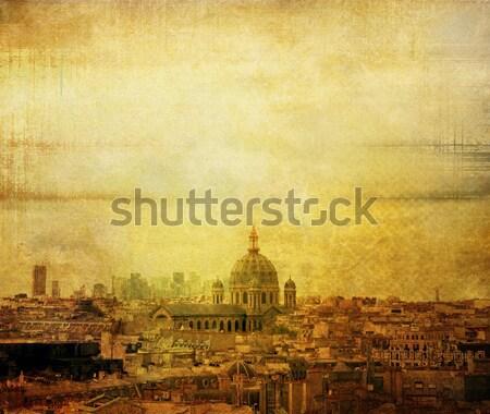 Párizsi utcák gyönyörű űr szöveg város Stock fotó © ilolab