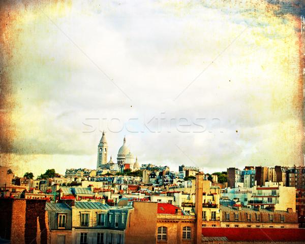 парижский улиц красивой пространстве текста книга Сток-фото © ilolab