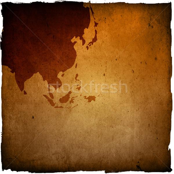 Foto stock: Ásia · mapa · fundo · ciência