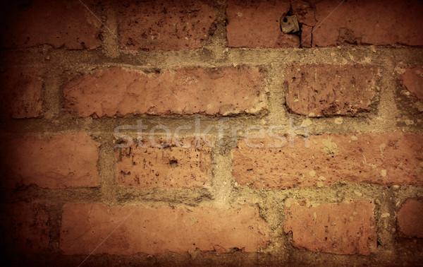 ściany starych czerwony murem pomarańczowy Zdjęcia stock © ilolab
