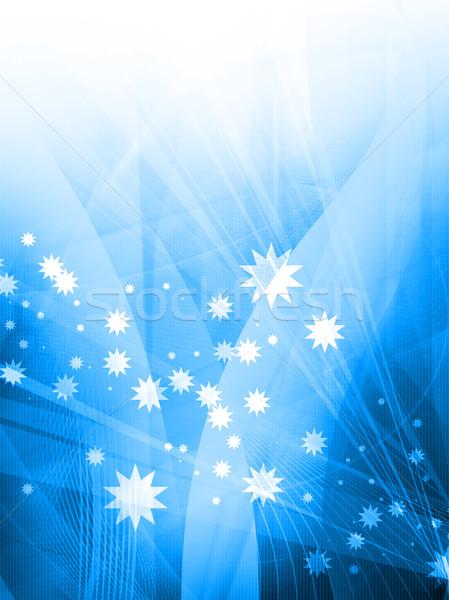 Résumé cool vagues bleu galaxie parfait Photo stock © ilolab